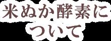 米ぬか酵素について